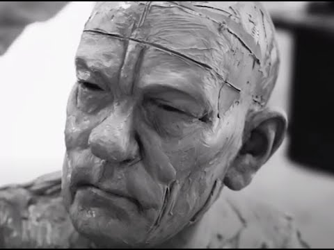 Clay statue made in tribute to honor Neil Peart drummer of RUSH