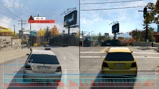 watch Dogs PS3 vs PS4 Gameplay Frame-Rate Tests