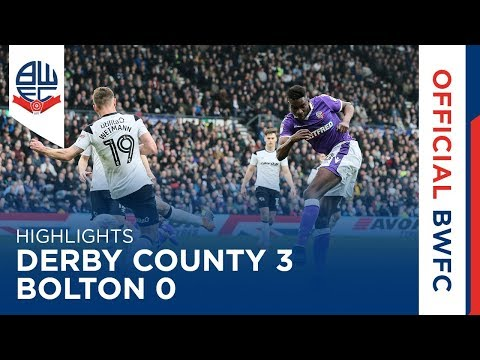HIGHLIGHTS | Derby County 3-0 Bolton Wanderers