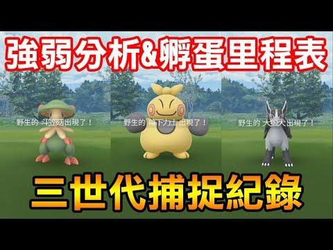 【Pokémon Go】三世代捕捉紀錄&強弱分析+孵蛋里程表