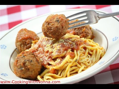 How to Make Homemade Spaghetti  and Meatballs - Rossella's Cooking with Nonna