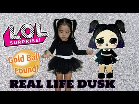 REAL LIFE DUSK! LOL SURPRISE CONFETTI POP DOLL finds RARE GLITTERATI GOLD BALL