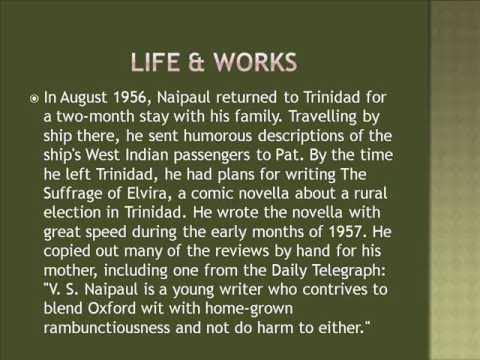 Sir Vidiadhar Surajprasad Naipaul Life & Works