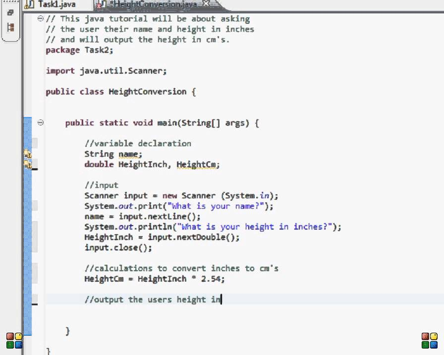 Java Programming Input Output Tasks Height Conversion Youtube