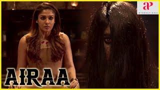 2019 Latest Tamil Movie   Airaa Movie Thriller Scene   Nayanthara meets the spirit   Kalaiyarasan