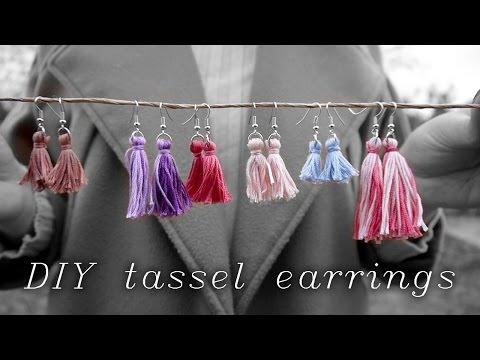 ▲ DIY Tassel Earrings w/ Embroidery Thread ▼