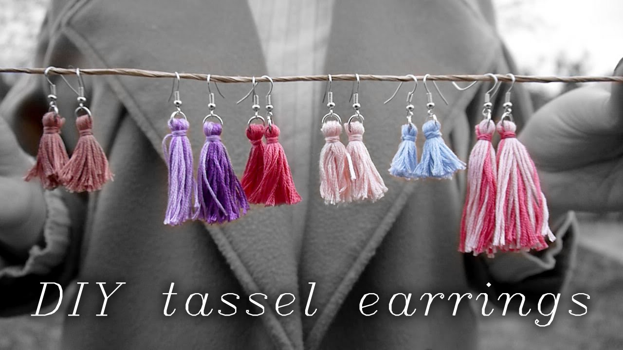 3d1d75a624ffd6 △ DIY Tassel Earrings w/ Embroidery Thread ▽ - YouTube