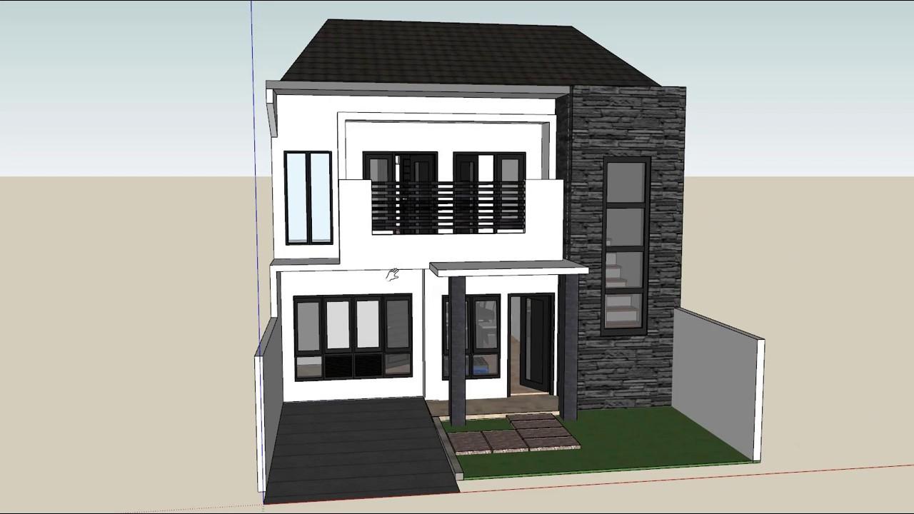 Bài tập 88: Nhà 2 tầng phong cách tối giản kích thước 8×12.7m