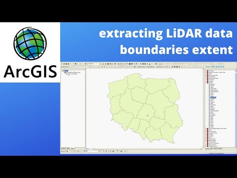 how to create LIDAR data boundaries in ArcGIS