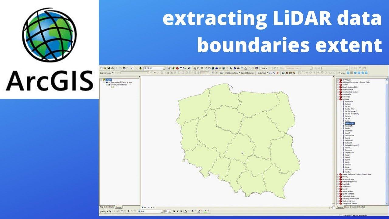 how to create LIDAR data boundaries in ArcGIS