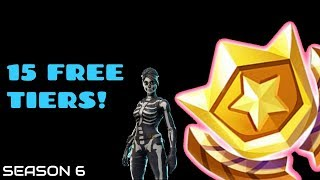 15 GRATUIT TIERS// SEASON 6 // fortnite battle royal