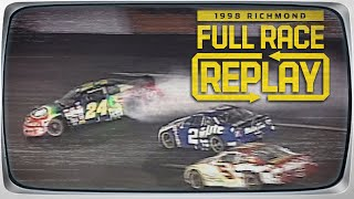 Rusty Wallace spins Jeff Gordon | 1998 Pontiac Excitement 400 | NASCAR Classic Richmond Race Replay