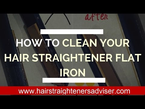 how to clean your flat iron - how to clean hair straighteners