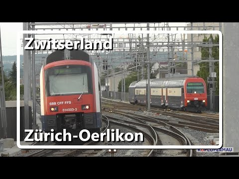 Züge am Zürich Oerlikon // Swiss Train Compilation