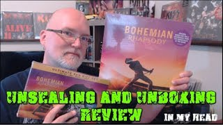 Unsealing and Opening - Bohemian Rhapsody Vinyl Soundtrack and Blu-Ray Collectors Edition