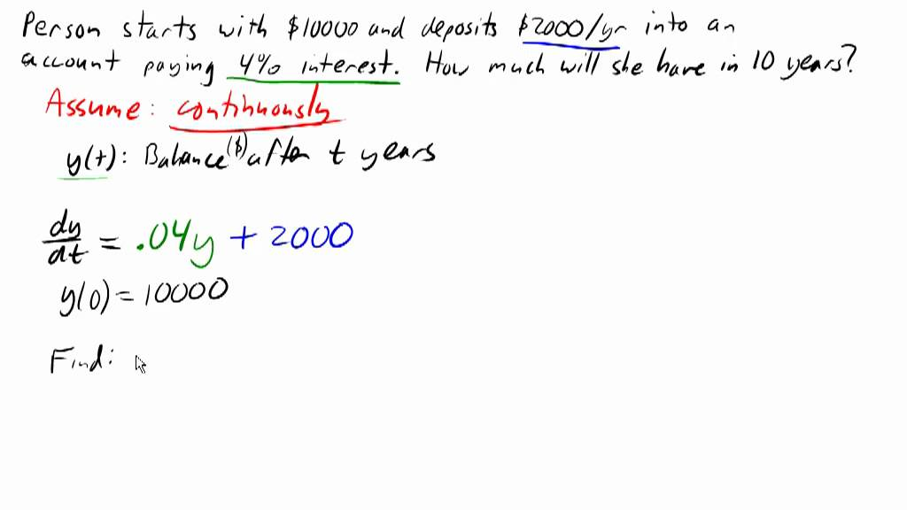 Annuity using differential equations - YouTube - annuity equation