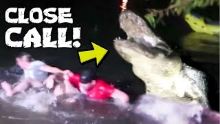 HE FELL INTO CROCODILE INFESTED WATER!!! W/ OMAR GOSH TV & JAMES THE FAM!!! | BRIAN BARCZYK