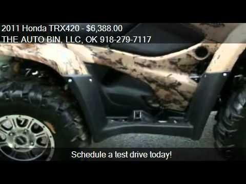 2011 Honda TRX420 Rancher TRX420FPAB - for sale in Broken Ar