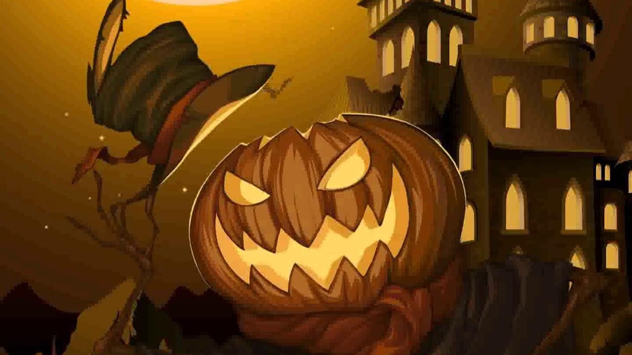 Samsung Theme Live Wallpaper Pumpkin Scarecrow Youtube