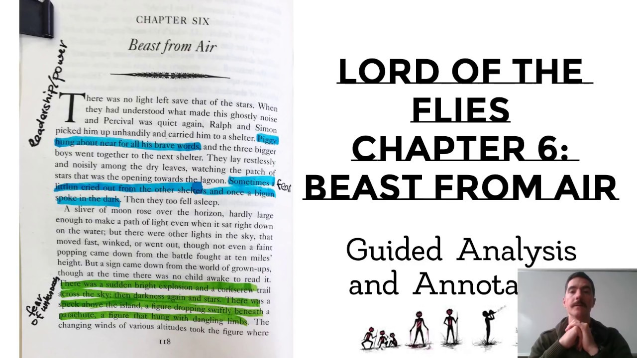 Lord Of The Flies Chapter 6 Guided Annotation Key Quotes Youtube