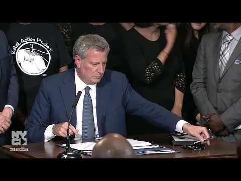 Mayor de Blasio Signs Laws Promoting Safety, Fairness and Transparency For All New Yorkers