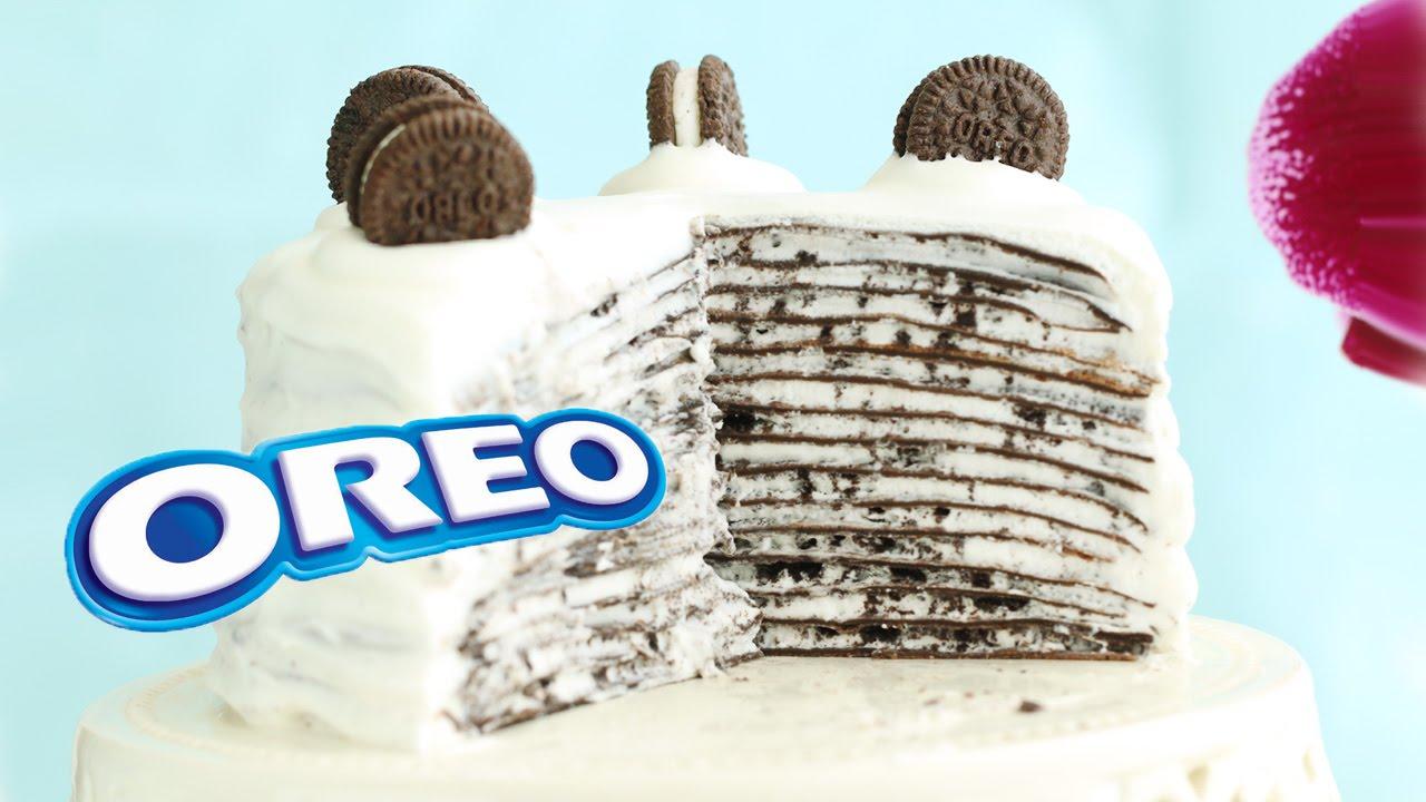 5364cdaf54 Oreo Mille Crepe Cake Mille Crepes - No-Bake Recipe - YouTube