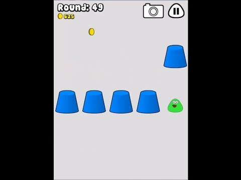 Pou Games Find Pou - Where's Pou? Under which cup? Level 74!