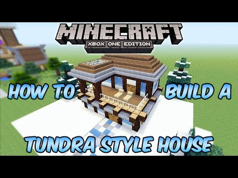 Minecraft Xbox One Tundra Style House Build Tutorial Youtube