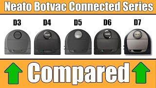 Neato Botvac Connected D3 vs D4 vs D5 vs D6 vs D7 COMPARED