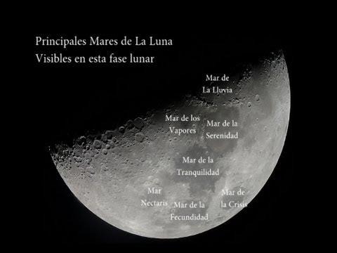 Mares de La Luna Visibles en Cuarto Creciente