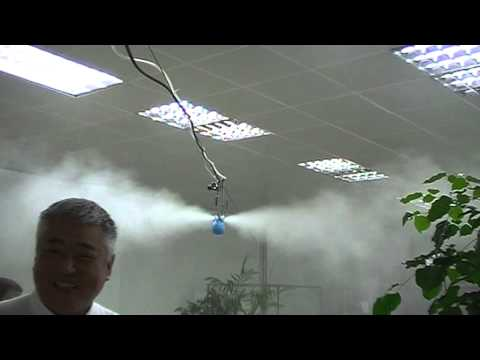 Non wetting dry fog humidifiers