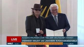 BUNDESPRÄSIDENT: Steinmeier verleiht Udo Lindenberg das Bundesverdienstkreuz