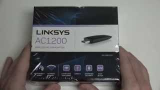 Linksys Dual-Band AC1200 Wireless USB 3.0 Adapter (WUSB6300) Unboxing