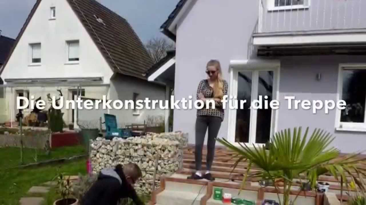 bau einer holzterrasse aus afri kulu mukulungu youtube. Black Bedroom Furniture Sets. Home Design Ideas