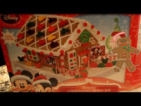 santa claus disney mickey mouse gingerbread house christmas lights - Mickey Mouse Christmas Lights