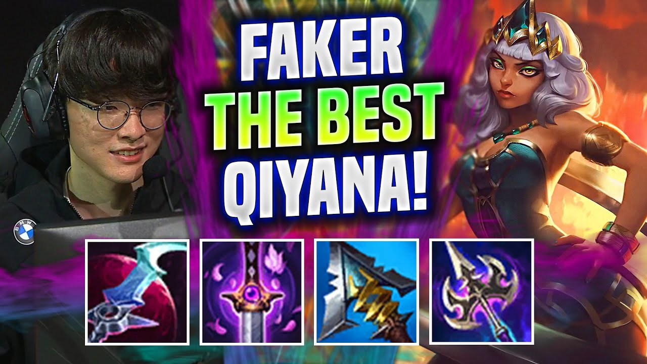 FAKER SHOW YOU WHY QIYANA IS THE BEST JUNGLER NOW! - T1 Faker Plays Qiyana Jungle vs Kayn!