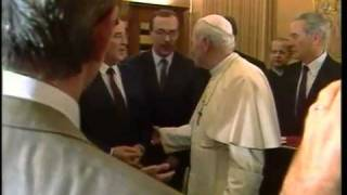 The historic meeting between John Paul II and Mikhail Gorbachev