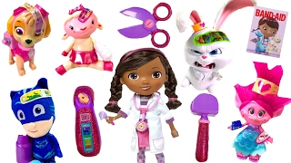Best Learning Colors Video for Children  - Doc McStuffins Helps Paw Patrol Trolls
