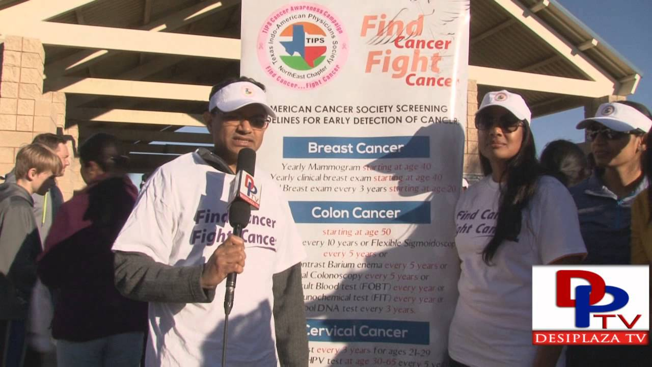 Member of TIPS speaking DPTV at DATA 4th Annual 5K Run/walk in honor Nishant Venishetty