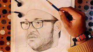 Dessin Portrait de Sa Majesté le Roi Mohammed 6 (Drawing Mohammed 6)