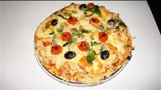 Pizza au poulet tomate mozzarella facile (CUISINERAPIDE)