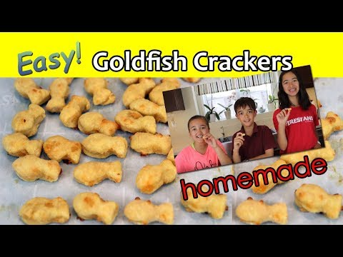 Homemade Goldfish Crackers - EASY!