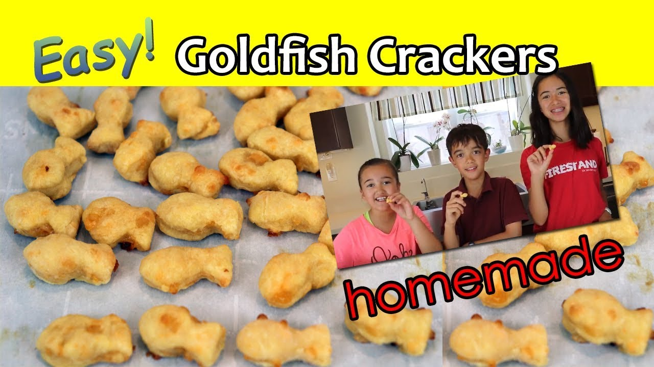 Homemade Goldfish Crackers - EASY!