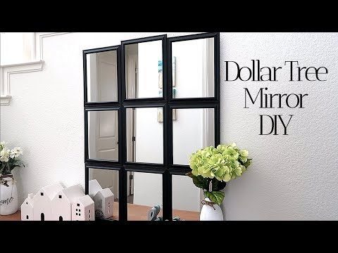 Dollar Tree Mirror DIY