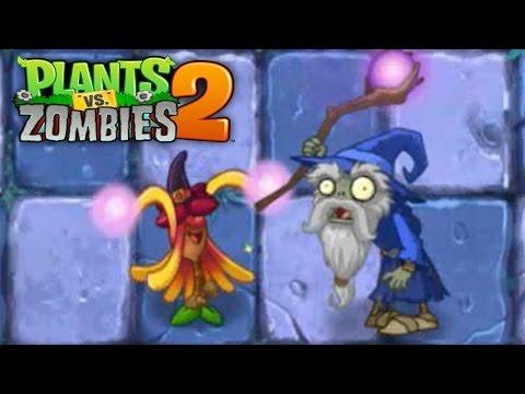 Plants vs Zombies 2 - Witch Hazel vs Wizard Zombie in Dark Ages | Big Brainz #1 Pinata 9/29/2016