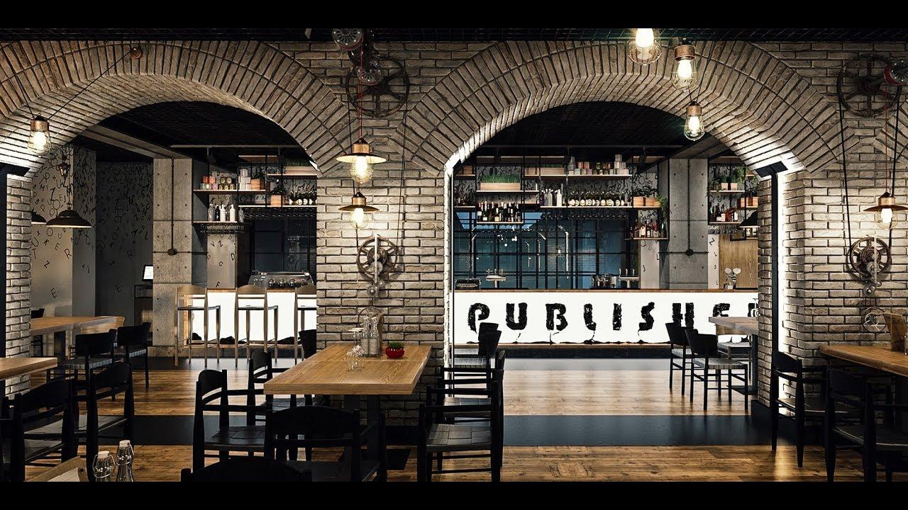 Restaurant The Publisher Design interior in stil industrial