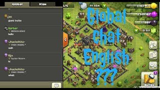 How to change Global Chat into English | Xerter | Clash of Clans