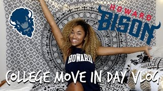 COLLEGE MOVE IN DAY VLOG | Howard University
