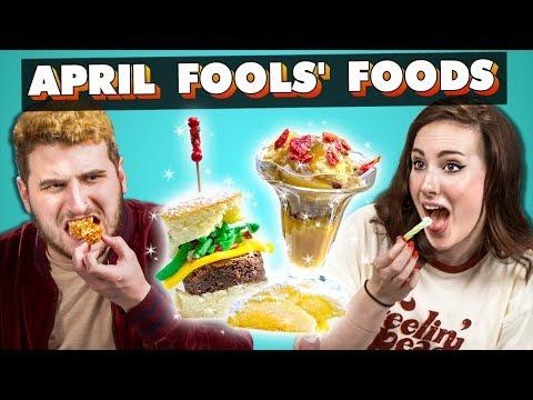 Adults Try April Fools' Food   People Vs. Food