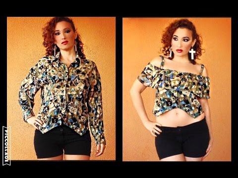 Tutorial By Una Top Vecchia Trasformare Un Camicia Come In Trendy odxCBe